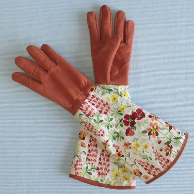 GELAI Găng tay bảo hộ In vườn găng tay dài tay bảo vệ cổ tay vườn trồng hoa cắt tỉa lao động găng ta