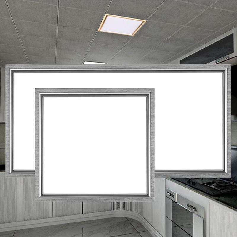 XISHUIZHIJAI La phong trần nhà Đèn led âm trần nhà bếp tích hợp 300 * 300 * 600 thanh nhôm ốp đèn le