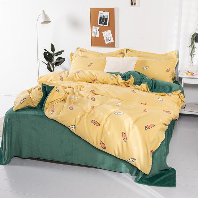 Bộ drap giường Bộ đồ giường Trang chủ Dệt may Sản phẩm mới Giường sinh viên bốn mảnh Đặt bán buôn Bô