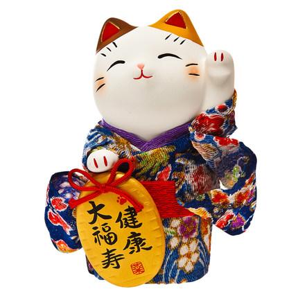 Đồ trang trí bằng gốm sứ hình mèo vẫy tay dễ thương .