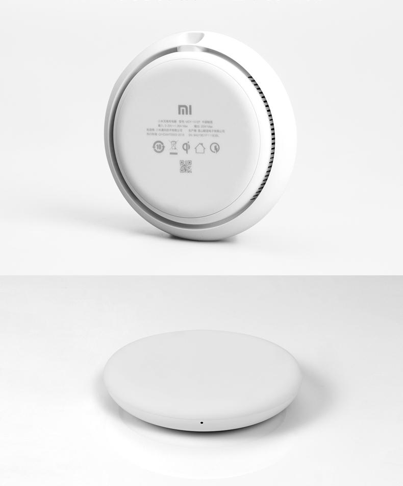 Cục sạc Thiết bị nạp nhanh không dây của Xiaoomi 20W hỗ trợ nhiều mẫu của giao thức nạp nhanh Tề thô