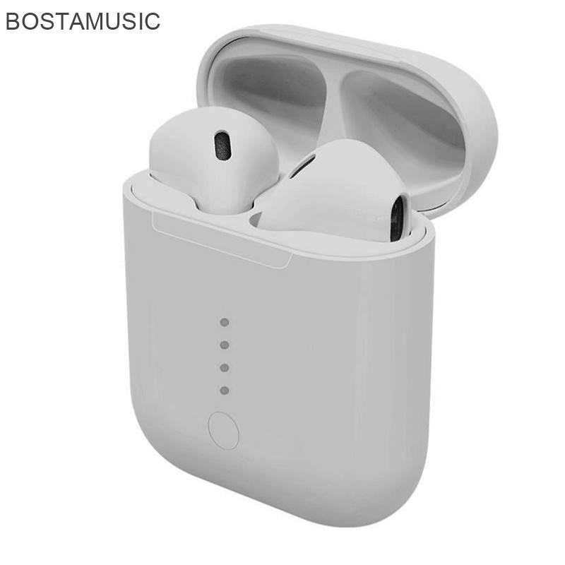 BOSTAMUSIC Tai nghe Bluetooth Nhà máy trực tiếp tai nghe Bluetooth TWS mới 5.0 chức năng bật lên ngă