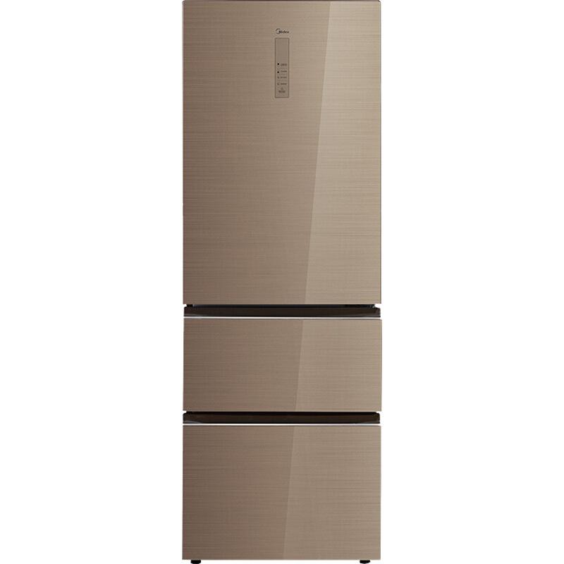 Tủ lạnh Midea 326 lít, biến tần , ba cửa làm mát bằng không khí, tủ lạnh không sương BCD-326WGPZM