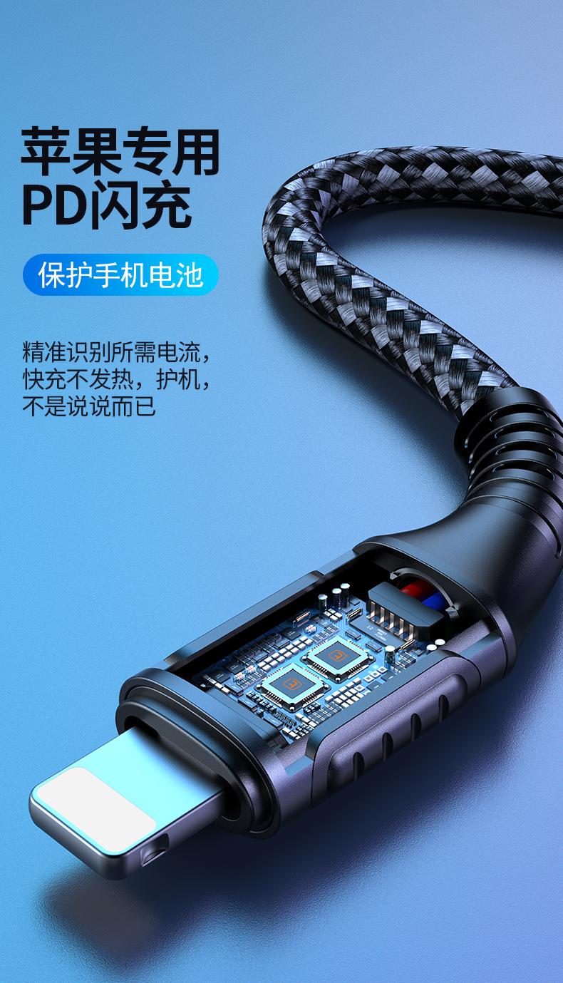 Dây USB Atlas Apple x nạp dây điện từ PD sạc nhanh dòng dữ liệu nạp flash Iphone 11pro phone di động