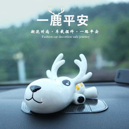 Đồ trang trí xe hơi bằng gốm sứ hình chú hươu nai .