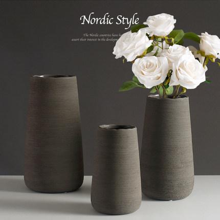 Đồ trang trí bình hoa bằng gốm sứ Hiện đại tối giản .