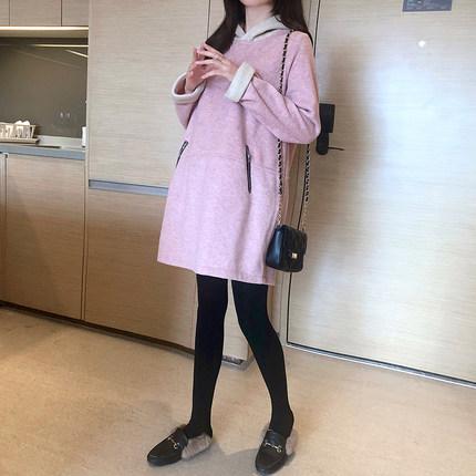 Oulimom  Trang phục bầu Áo bà bầu mùa thu đông mẫu áo khoác ấm áp mùa đông trong phần dài thời trang