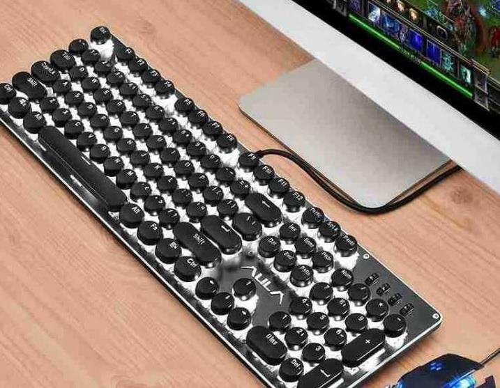 E-Cạnh tranh với kim loại ba phần bàn phím cơ khí của bàn tay chuột máy tính kĩ thuật quán cà phê th