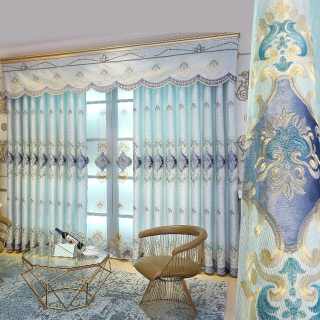 HULIANHU Thị trường trang trí nội thất Rèm phòng khách hộ gia đình phòng ngủ nhung nhung rèm vải Jin