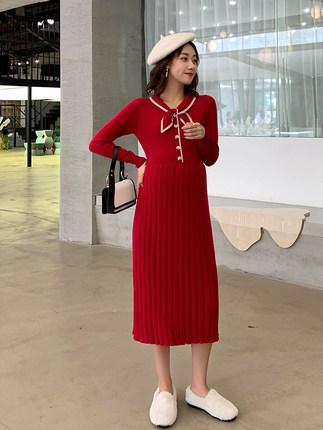 Oulimom  Trang phục bầu Áo len bà bầu giữa chiều dài cơ sở dệt kim bà bầu mùa thu và mùa đông dài th