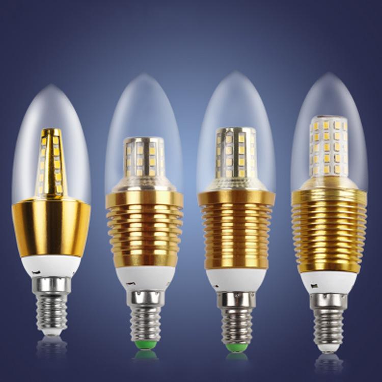 JLZG Bóng đèn nến Nhà máy trực tiếp chỉ bong bóng LED bóng nến đầy sao E14 vít LED nến ánh sáng 12W