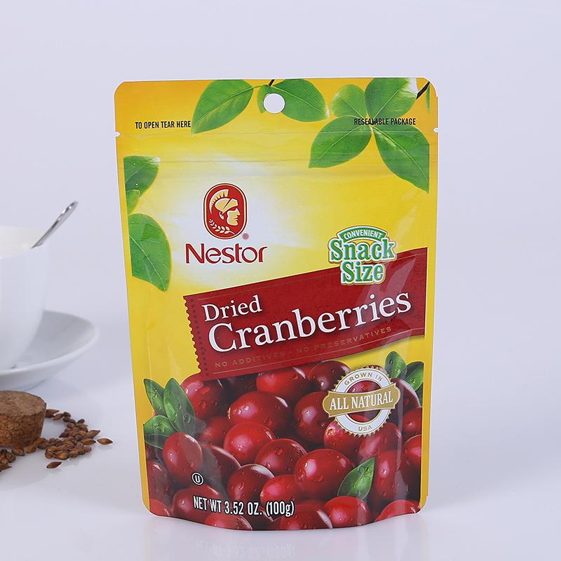 Túi đứng Cranberry Thực phẩm khô Bao bì Túi đứng Zip Tea Bag Snack Nut Thực phẩm Túi có thể in logo