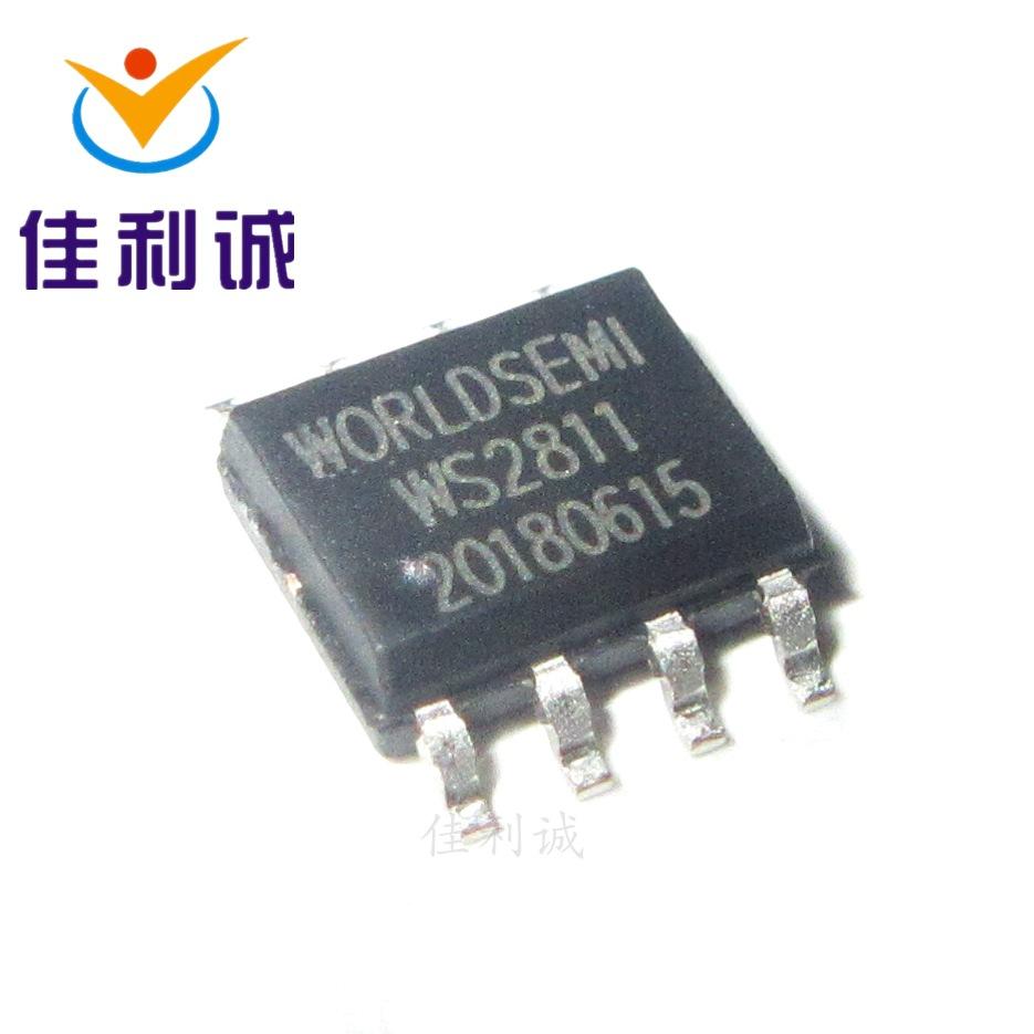 WORLDSEIM Bộ chuyển nguồn IC Gói WS2811S SOP-8 để lại một mất mười và cung cấp chip IC trình điều kh