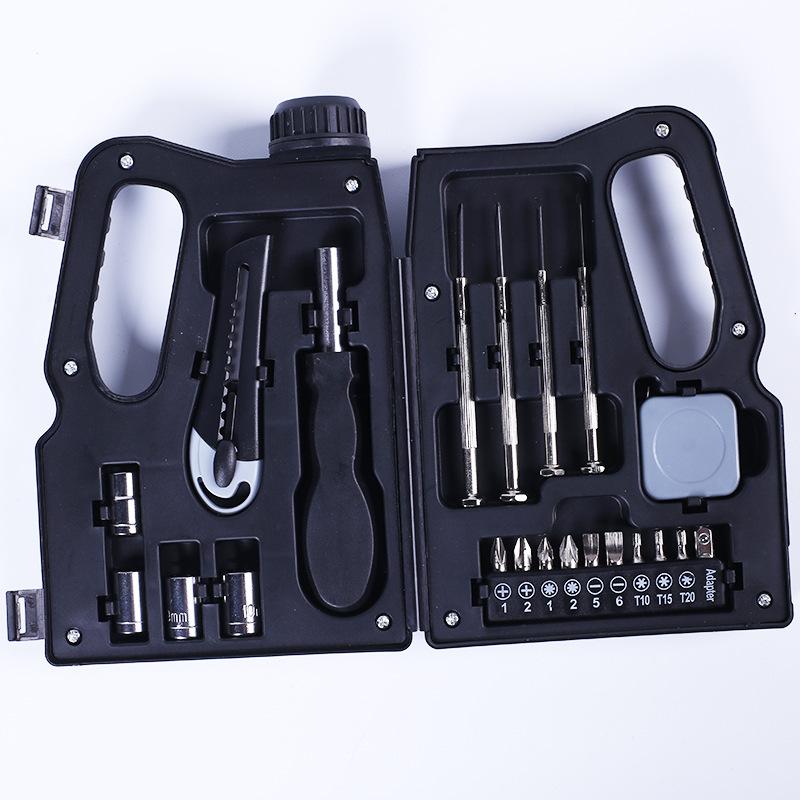 YIFA Dụng cụ thủ công Thùng dầu công cụ phần cứng hộp sáng tạo di động đa chức năng 11 mảnh hộp công