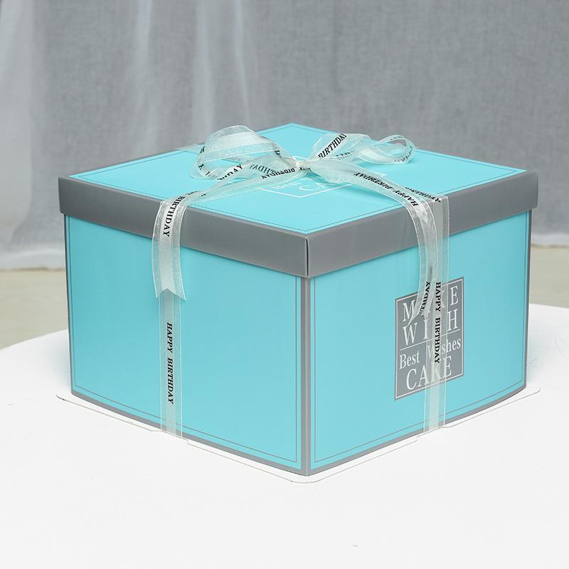 DONGHAN Hộp giấy Bán buôn tại chỗ 6 inch 8 inch 10 inch 12 inch Hộp nướng ba trong một hộp bánh sinh