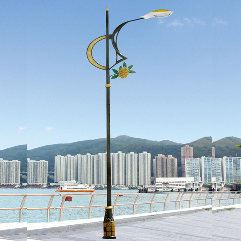LIANGSHI Đèn đường 6 mét cổ đèn đường phố ánh sáng phong cách châu Âu ánh sáng sân vườn phong cách T