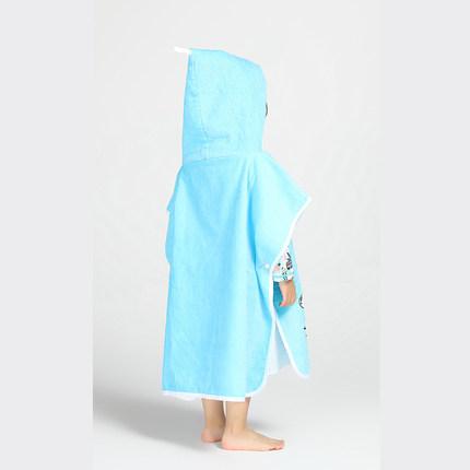 Decathlon Khăn bãi cát  Khăn tắm biển Decathlon cho trẻ em áo choàng tắm bằng vải bông cape mui xe t