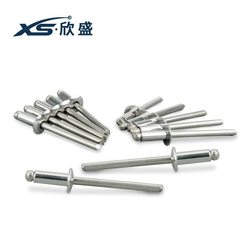 XS Đinh Nhà máy bán hàng trực tiếp Xinsheng 304 thép không gỉ lõi tròn đầu đinh tán cơ khí kéo đinh