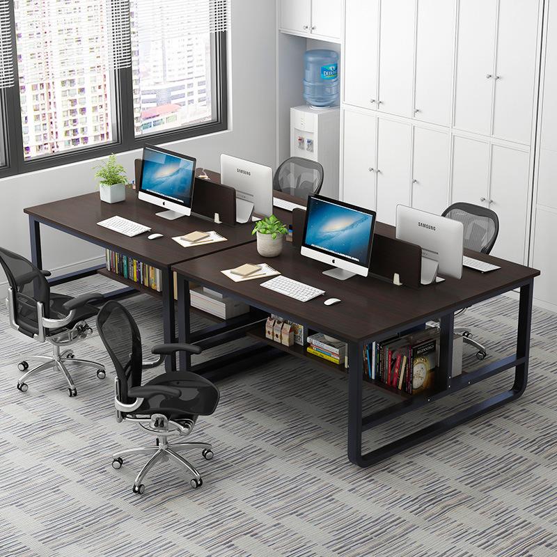MSFE Thị trường nội thất văn phòng Bàn nhân viên công ty bốn người đơn giản và hiện đại lắp ráp nội