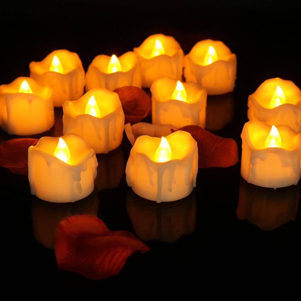 Bóng đèn nến Nhà sản xuất cung cấp thời gian dẫn nến nến điện tử nến Halloween trang trí đám cưới sá