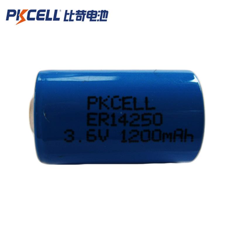 PKCELL Pin Lithium-ion Pin lithium dùng một lần ER14250 Pin hình 3.6v1 / 2AA 1200mAh / pin ER bảo hà