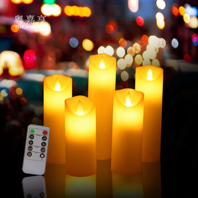 YUEJIAHENG Bóng đèn nến Xiên xoay nến điện tử ánh sáng lãng mạn sinh nhật thú nhận đề xuất bố trí sá