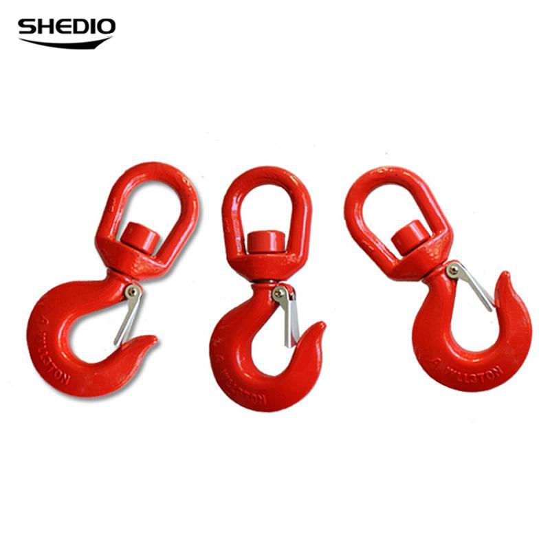 SHENGDIAO Công cụ chằng buộc Shengdiao móc treo móc xoay với thẻ bảo hiểm cường độ cao móc hàng móc
