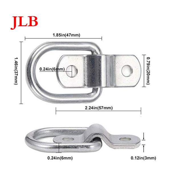 JLB Công cụ chằng buộc Nhà sản xuất thép không gỉ hình chữ d kéo vòng tam giác móc xe tải trailer ké