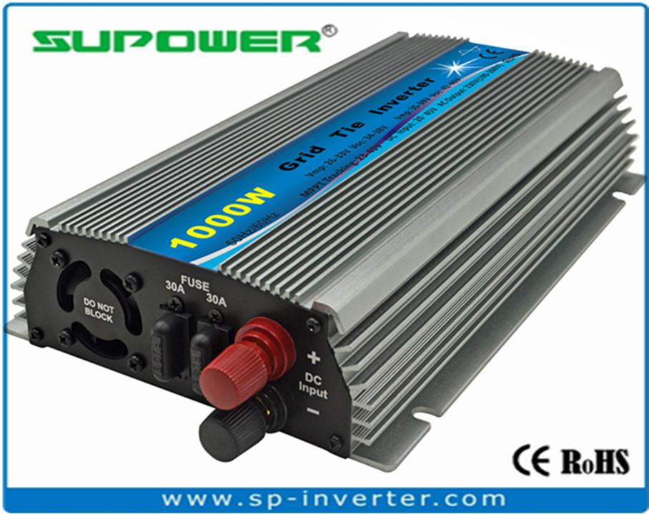 SUBO Thiết bị biến áp Biến tần 1000W 22-45V 36V điện áp mặt trời mini biến tần kết nối lưới điện