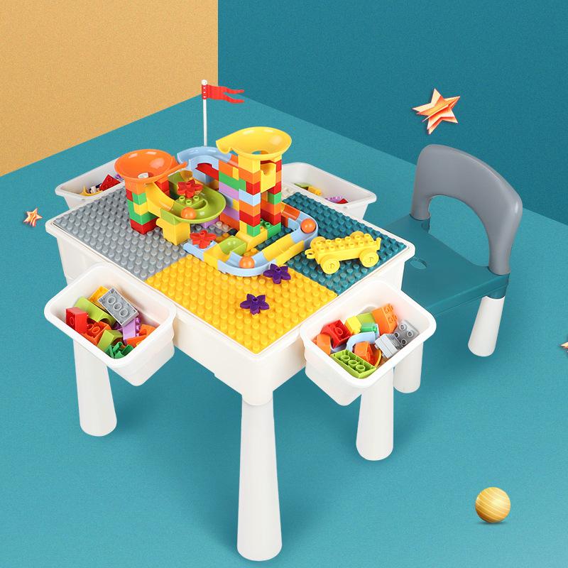 MENGBAO Đồ chơi Khối xây dựng đa chức năng cho bé trai 3-4-6-8 tuổi Cô gái hạt lớn khối xây dựng giá
