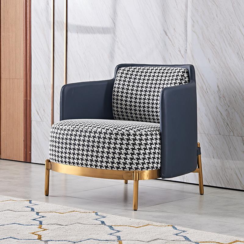 WOSENDA Nội thất 2019 nội thất mới houndstooth sofa ghế nordic net đỏ hiện đại đơn giản vải đơn ánh