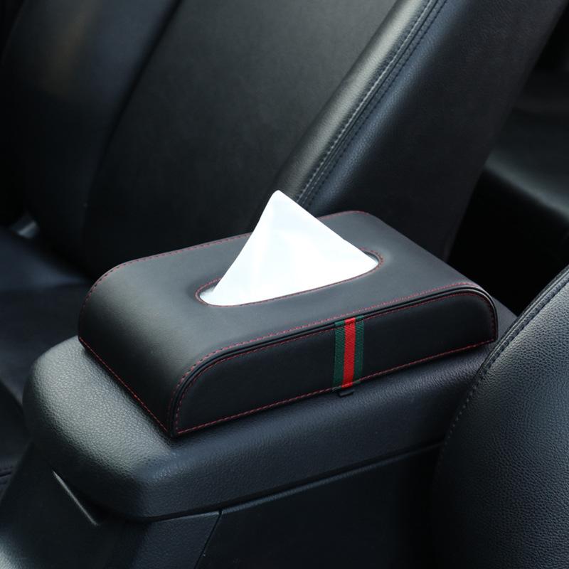 HAOCHEFENG Đồ dùng ô tô Hộp khăn giấy Ghế tay vịn Hộp cố định Xe bơm Hộp sáng tạo Xe khăn ăn Hộp đựn