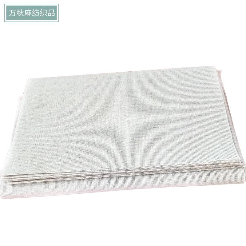 Vải Hemp mộc Vải lanh Vải lanh In vải lanh màu xám Vải nền Thủ công xuất xưởng