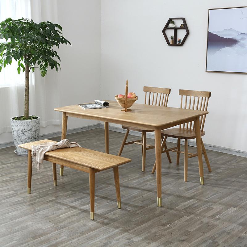 XINGYE Nội thất Bàn ăn Bắc Âu nhà hiện đại tối giản phong cách gỗ sồi nội thất căn hộ nhỏ gỗ rắn Nhậ