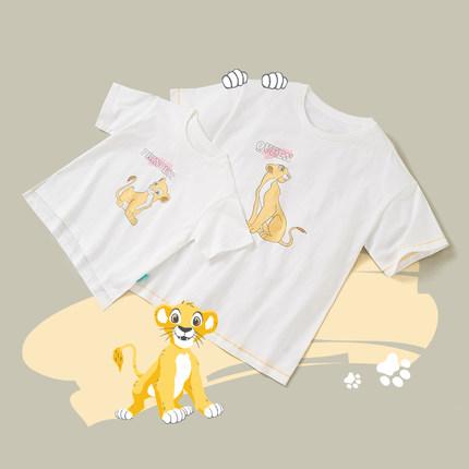 Áo thun gia đình Vua sư tử Anh chung Simba Trang phục phụ huynh-trẻ em Gia đình ba bé Trang phục gia