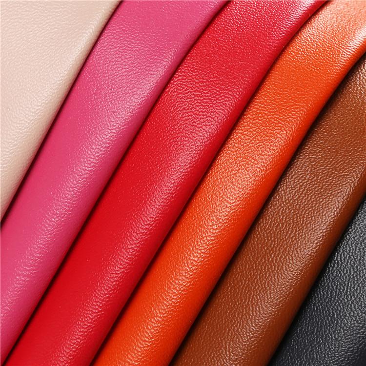 CHANGJIU Da dê Bán buôn tại chỗ Da nhân tạo Da cừu Microfiber Leather Leather 0.7mm Da cừu Microfibe