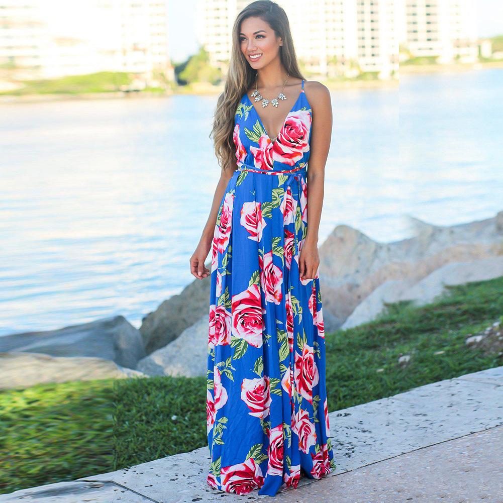 Váy Mùa hè 2020 mùa hè châu Âu và Mỹ nghi ngờ váy phụ nữ váy rò rỉ bãi biển