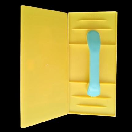 NOGA  Công cụ nghề mộc  Tấm rửa có tay cầm màu xanh lá cây, tay cầm màu xanh, máy làm khay nhựa, dụn