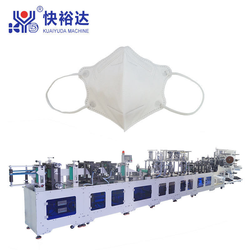Day chuyen san xuat  khau trang Nhà sản xuất máy làm mặt nạ gấp tự động siêu tốc độ cao