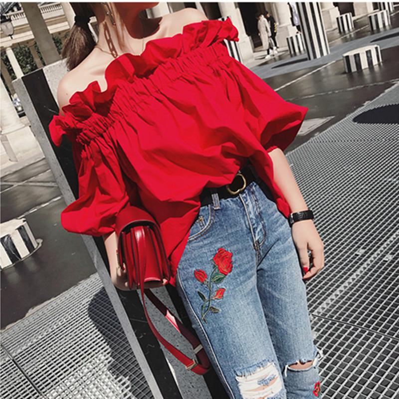 FANYUXUAN Thời trang nữ 2020 Phụ nữ mùa xuân Thời trang mới của Hàn Quốc Màu rắn tay áo năm điểm Ruf