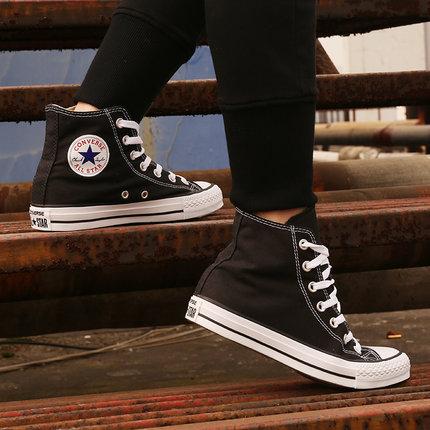 Converse Giày lười / giày mọi đế cao  Giày nữ Converse giày vải cổ điển cao cổ nam thể thao unisex g