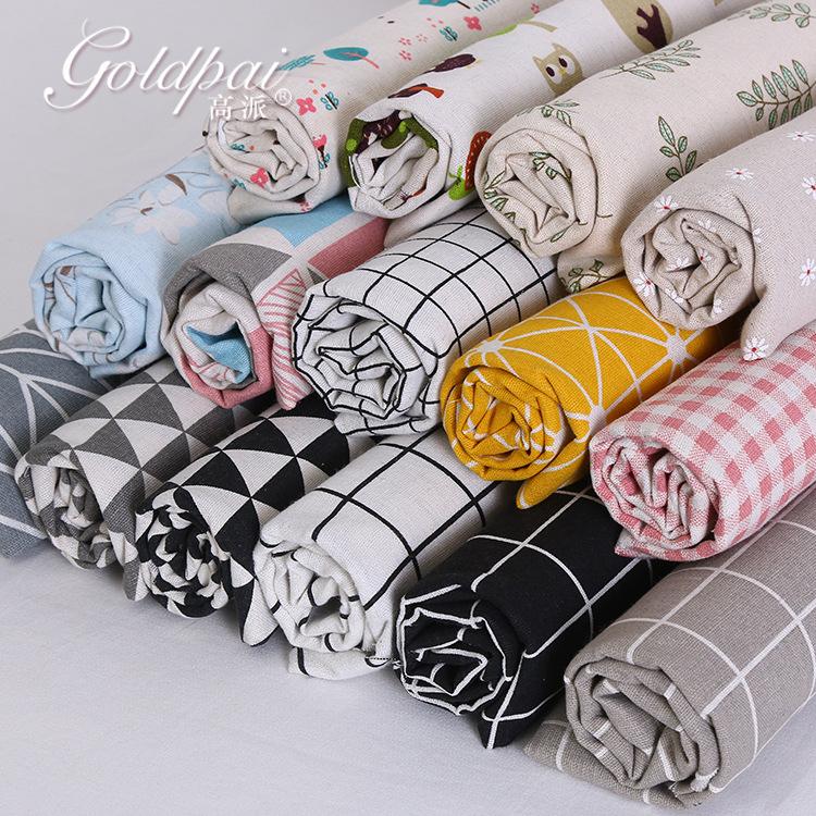 GAOPAI Vải Cotton pha Vải lanh kẻ sọc vải lanh in vải sofa nhà dệt vải