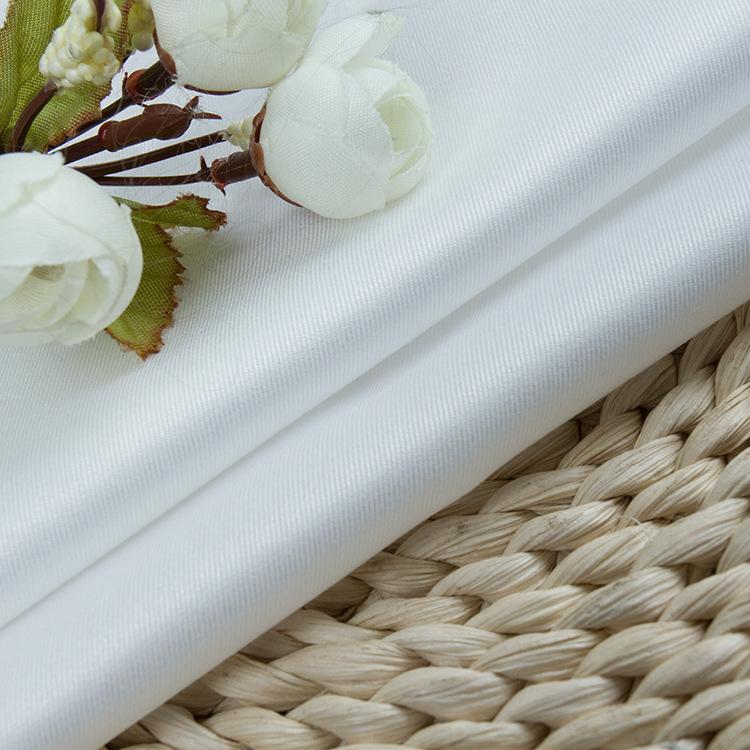 NLSX vải Chất liệu cotton 80/2 trắng mịn vải chéo amoniac vải không sắt cho nam và nữ chuyên nghiệp