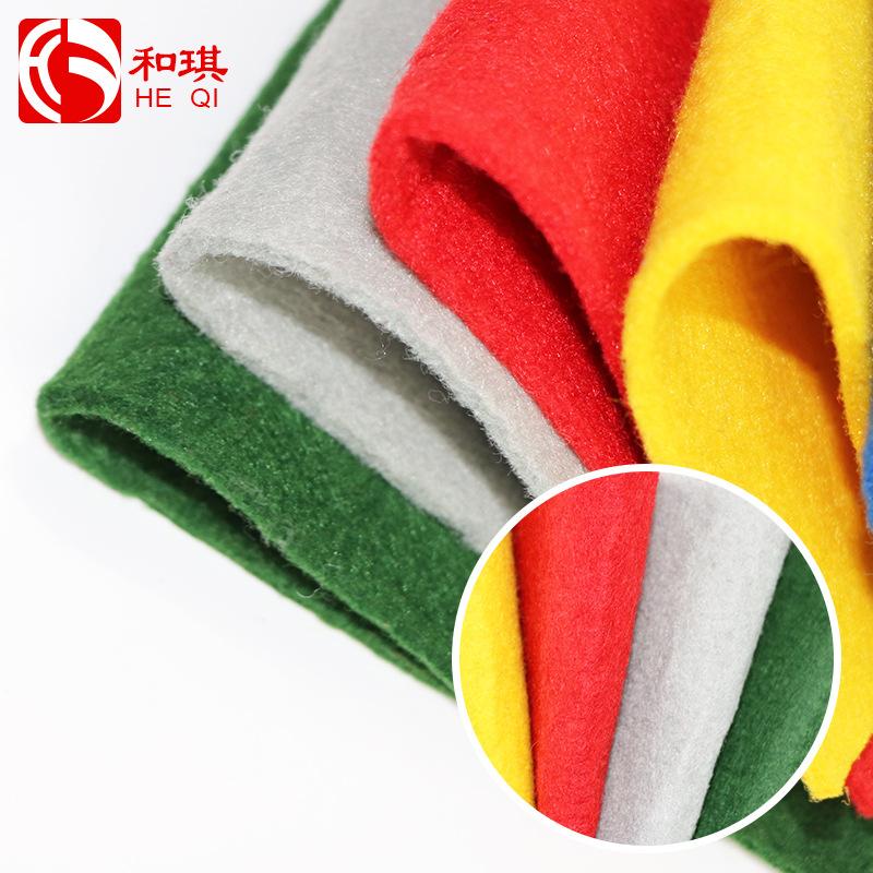 HEQI Vải không dệt Trang chủ dệt màu kim đấm vải không dệt màu vải không dệt nhà sản xuất vải nền ki