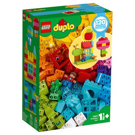 LEGO Thị trường đồ chơi  Kai chi Lego LEGO Duplo hạt nhựa xô xây dựng khối trẻ em đồ chơi giáo dục 1