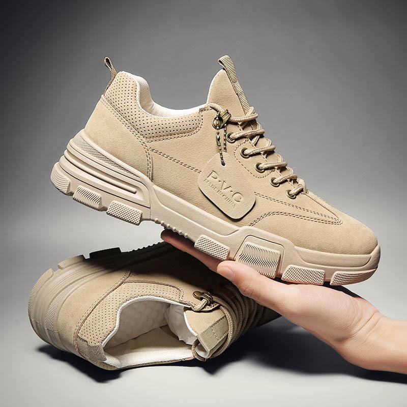 XILEPU Giầy dép Mùa xuân mới Martin giày nam Giày hoang dã của Anh Giày đế thấp, giày đế thấp, dụng