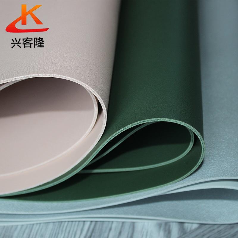 XINGKELONG Da dê Nhà máy da Xingkelong sản xuất PVC Da cừu hai mặt Da dày 2.0mm Túi da PVC Da nhân t