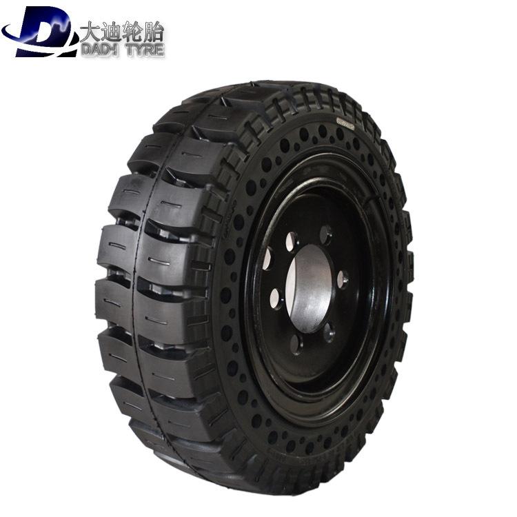 DADI Cao su(lốp xe tải) Lốp xe nâng rắn giảm xóc lốp 650-10 lốp 28x9-15 lốp 3 tấn 3,5 tấn phù hợp vớ