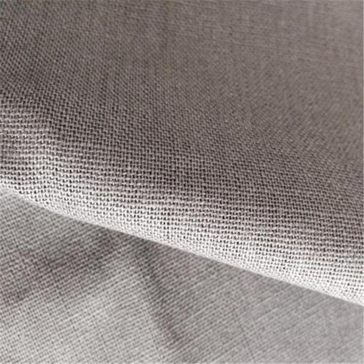 XINSHIJI Vải Hemp mộc 100% vải lanh màu xám nguyên chất, trực tiếp từ nhà sản xuất, có thể được sử d