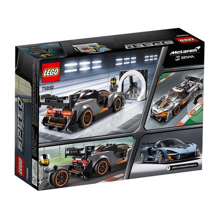 LEGO Thị trường đồ chơi  LEGO 75892 Super Racing Series McLaren Senna Boys Chèn khối Đồ chơi lắp ráp